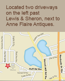 Located two driveways on the left past Lewis & Sharon, next to Anne Flaire Antiques